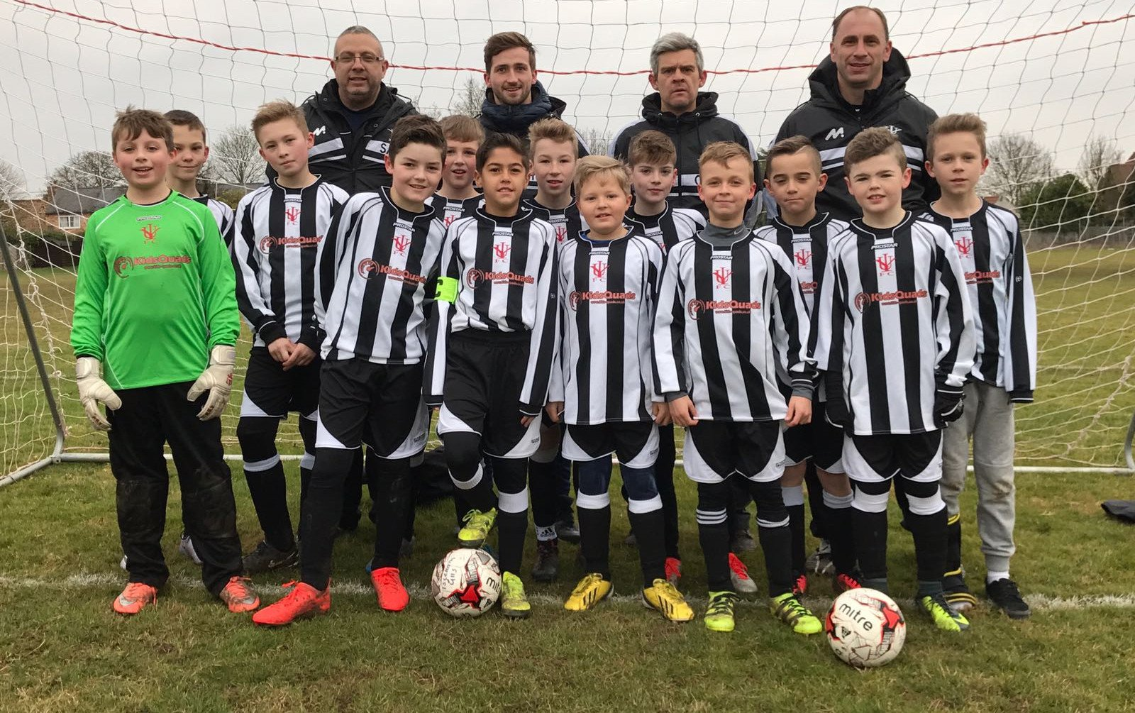 Kids Quads Sponsors the Isleham Youth Football Team - Under 11's
